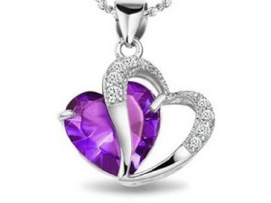 Enter to WIN an Amethyst Heart Shape Pendant Necklace