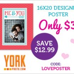 16×20 Customized Poster Only $3.00! Great For Valentine's Day