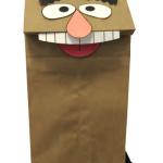 Paper Bag Muppet Craft DIY