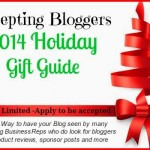 Now Accepting Bloggers for a 2014 Holiday Gift Guide