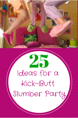 Ideas for a girls slumber party for Crafts for 10 year old birthday party