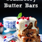 Christmas Cranberry Butter Bars