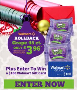 Enter to WIN a $100 Walmart Gift Card!