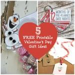 5 FREE Valentine's Day Printable Gift Ideas