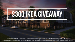 Enter to WIN a $300 IKEA Gift Card