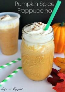 Copycat Starbucks Pumpkin Spice Frappuccino