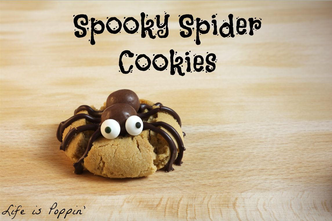 Spooky Spider Cookies - Life is Poppin'