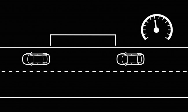 Intelligent Cruise Control (ICC) works like a standard cruise control, only with the added feature of maintaining a selected distance from the vehicle in front of you.