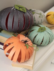 Easy Patterned Paper Pumpkins