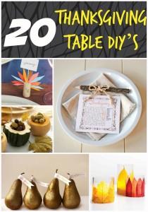 20 Thanksgiving Table DIY's