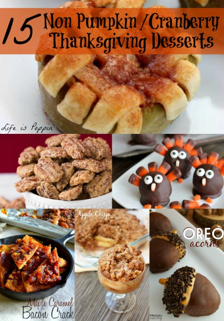 Non Pumpkin Cranberry Thanksgiving Desserts