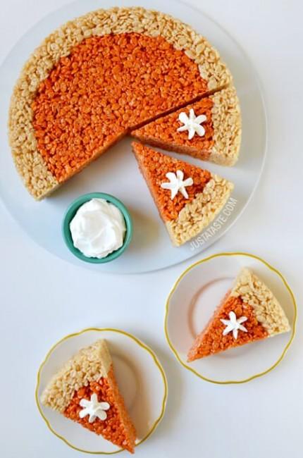 Pumpkin Pie Rice Krispies