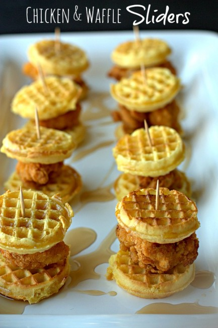 mini chicken and waffle slidres