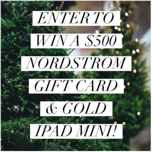 $500 Nordstrom Gift Card + Gold Mini iPad Giveaway