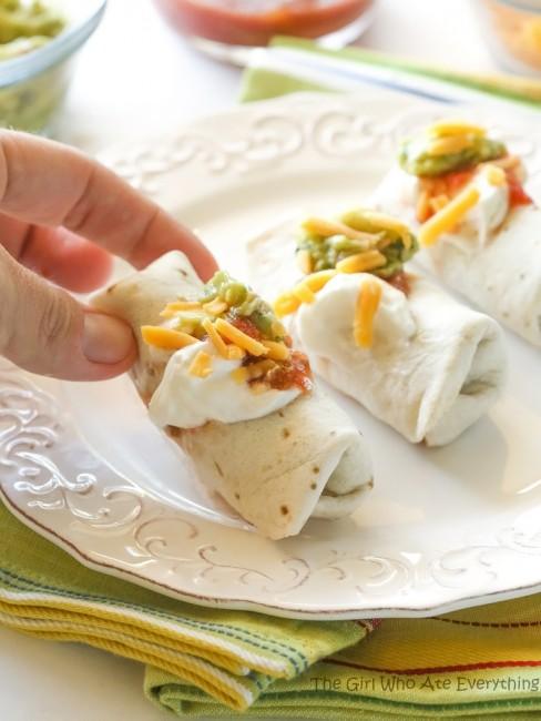 mini burritos