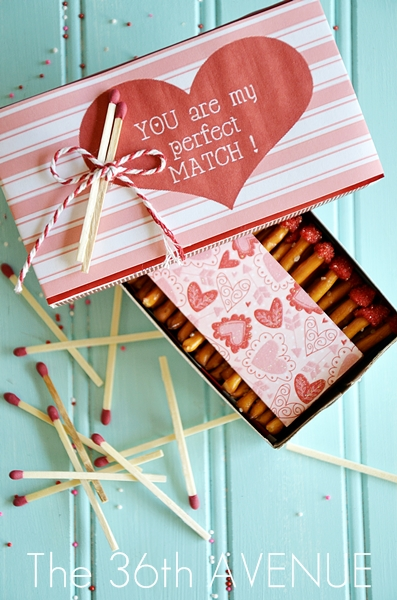Valentine Edible Matches