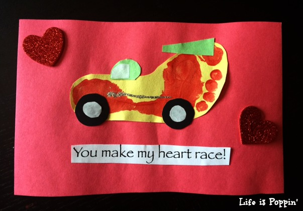 Race Car Valentine Craft Gift Idea