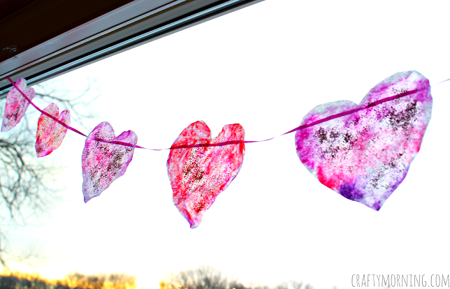 coffee filter heart garland