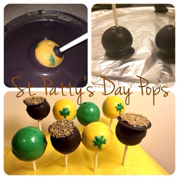 St. Patty's Day Cake Pops