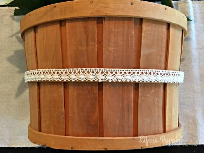 Bow Glued on Basket DIY