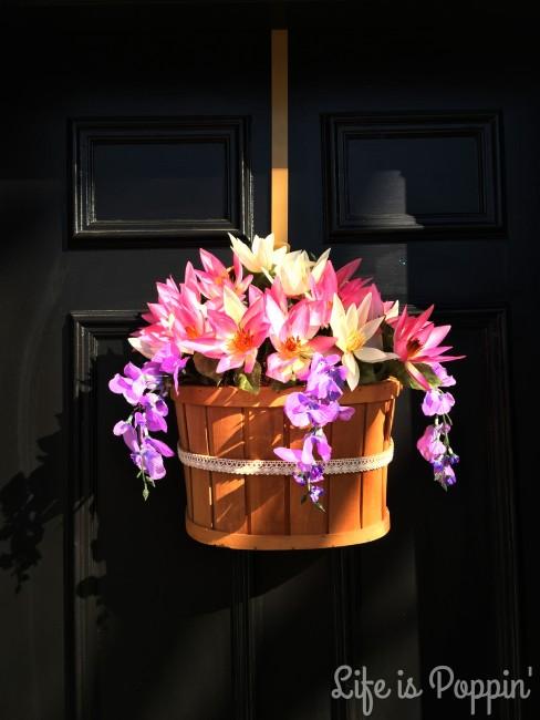 Final DIY Flower Basket