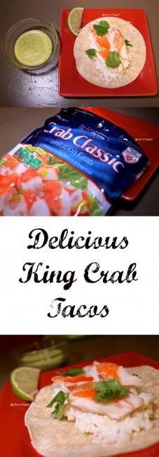 Delicious King Crab Tacos