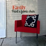 Easily Paint a Fabric Chair + DIY Paint Recipe