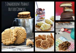 Thirteen Different 3 Ingredient Cookie Recipes