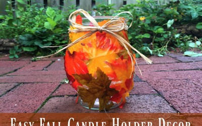 Easy Fall Candle Holder Decor