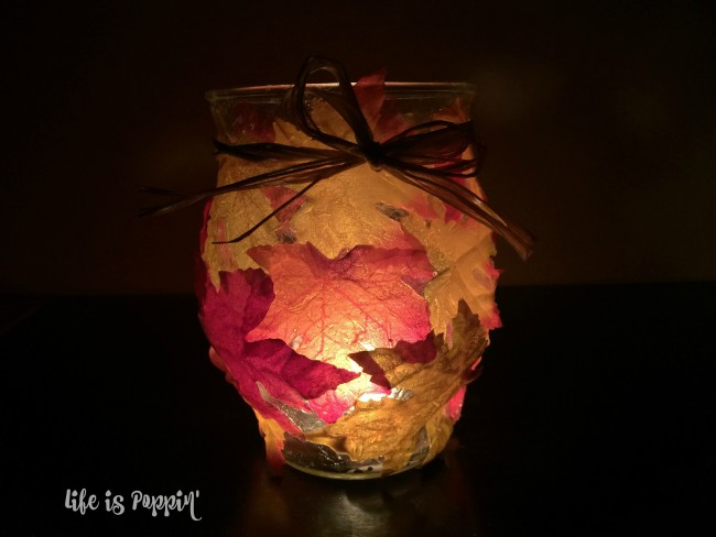 Easy Fall Mason Jar Candle Holder- final