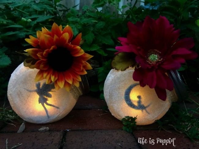 Fairy Jars at night
