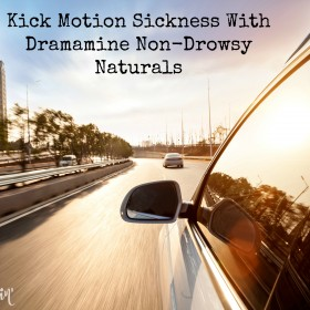 Kick Motion Sickness with Dramamine Non-Drowsy Naturals