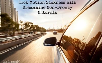 Kick Motion Sickness with Dramamine Non-Drowsy Naturals