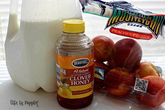 Blender-Peach-ice-cream-recipe-ingredients