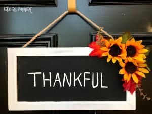Easy 'Thankful' Fall Decor