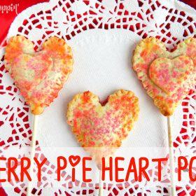 Cherry Pie Heart Pops