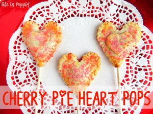 Cherry Pie Heart Pops