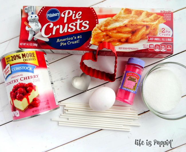 Cherry Pie Heart Pops Ingredients