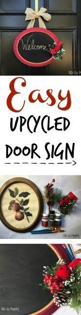 Easy Upcycled Door Sign pin