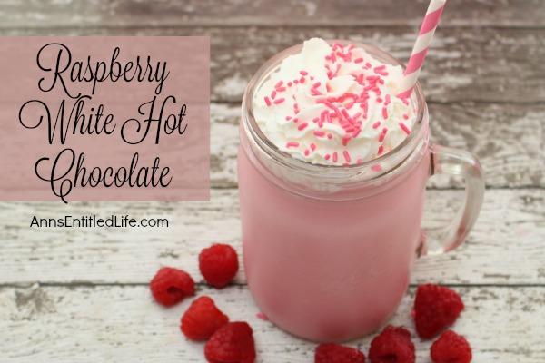 Rasperry White Hot Chocolate