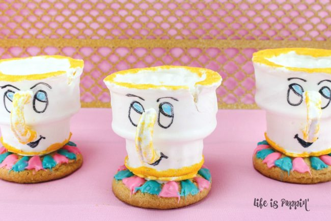 Easy Chip the Teacup Cookies from Beauty and the Beast
