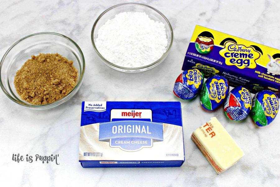 Ingredients-Easy Cadbury Egg Dip