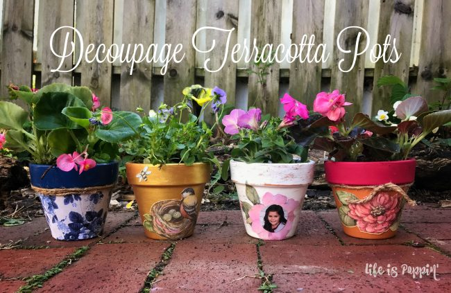Decoupage Terracotta Pots – Frugal Mother's Day Gift Ideas