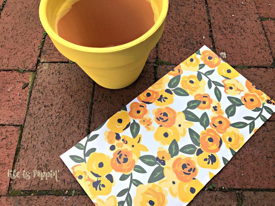 Decoupage-Terracotta-Pots-scrapbook-paper